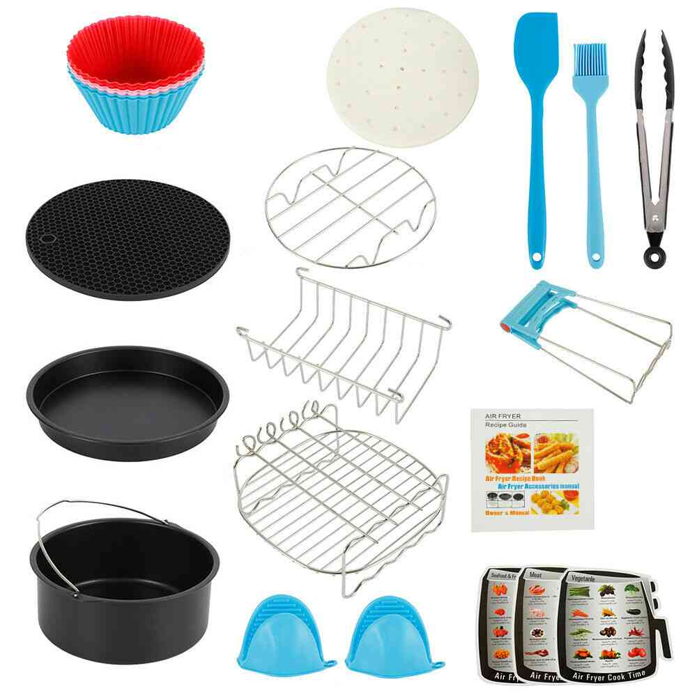 Air Fryer- Baking Basket, Pizza Plate & Grill Pot, Kitchen Cooking Tool