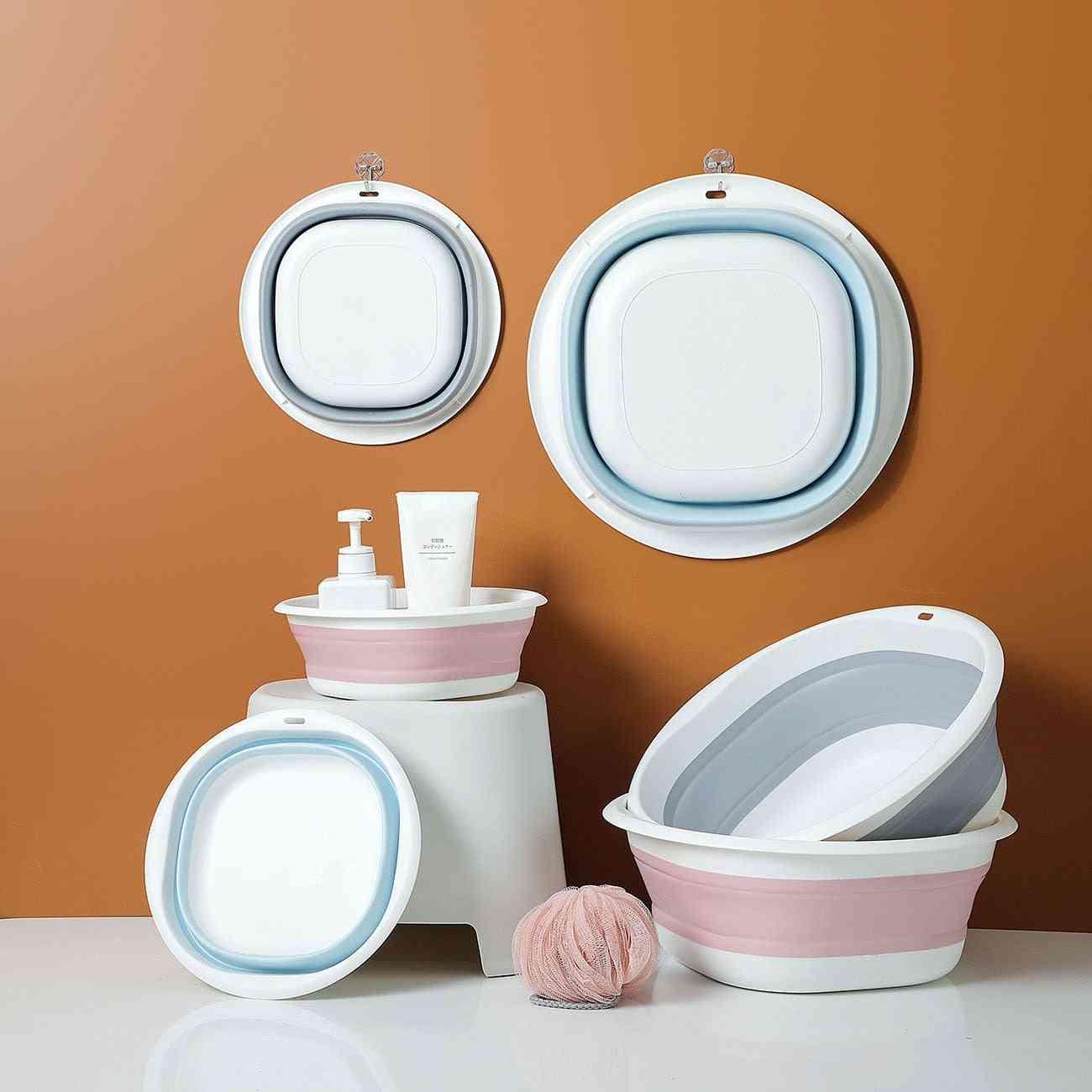 Portable- Folding Wash Basin, Sink Foot Bucket