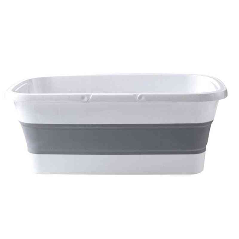 Foldable Collapsible, Portable Wash Basin, Dishpan Mop Bucket With Handle