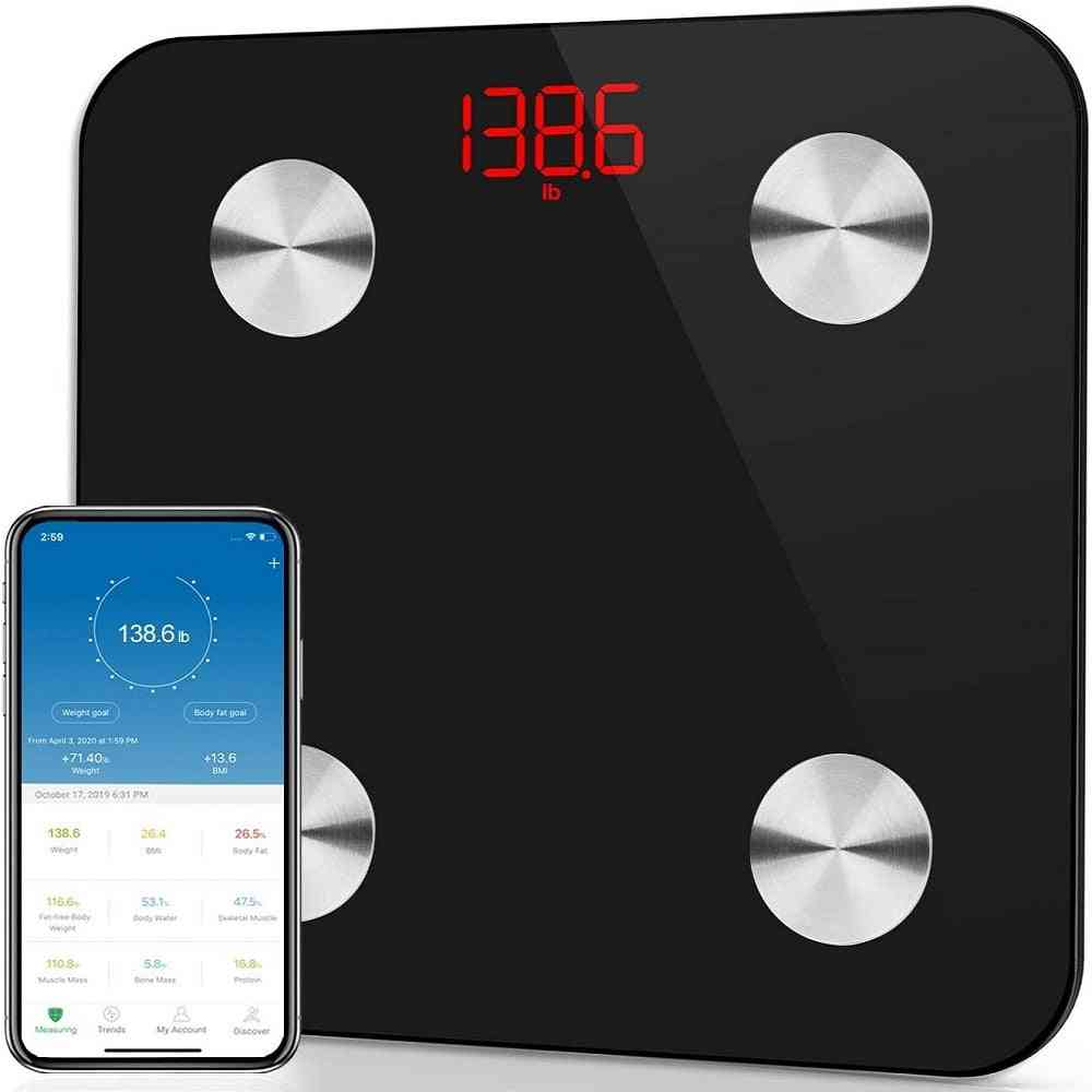 Body Fat- Bluetooth Weight Measuring, Electronic Smart Scale
