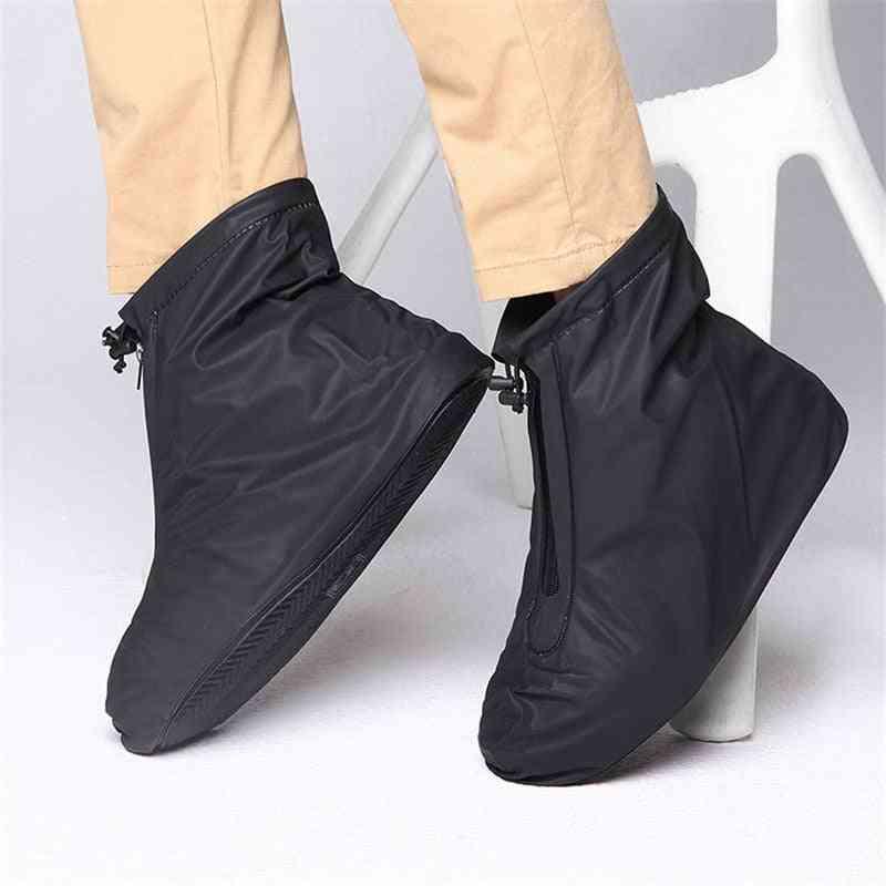 Pvc Reusable, Non-slip Rain Flats Ankle, Boots Cover For Shoes