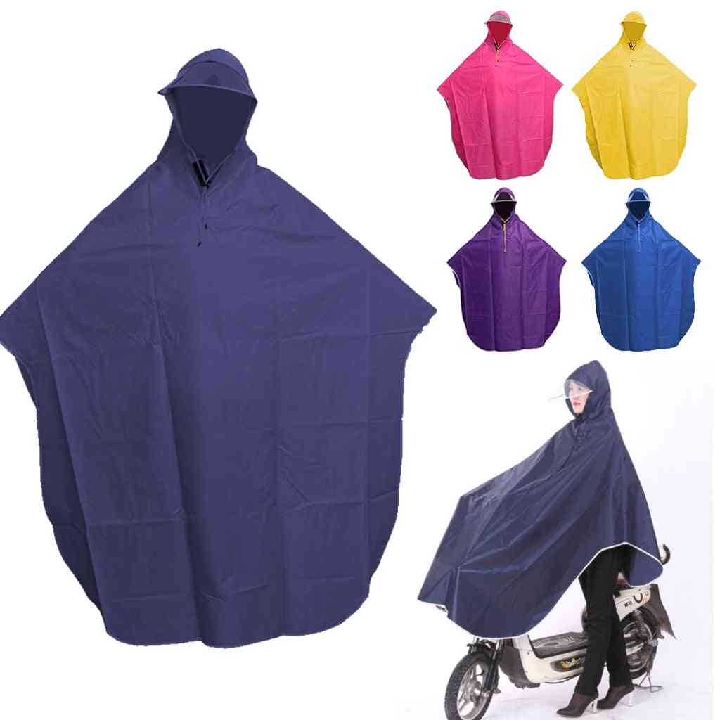 Windproof- Poncho Hooded Raincoat For Cycling, Motorcycle