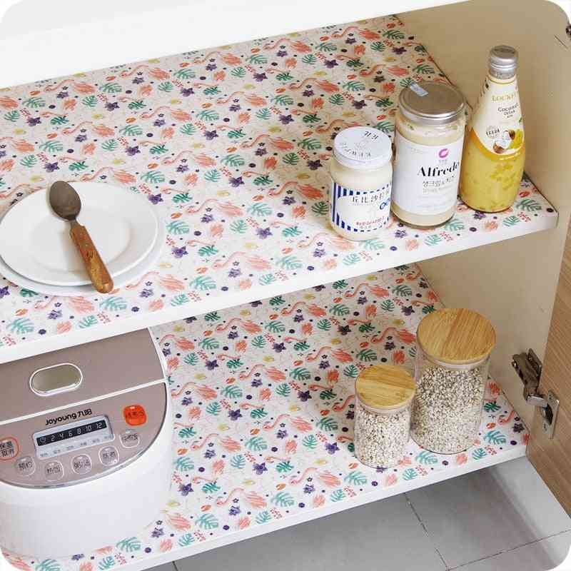 Drawers Cabinet Shelf Liners Cupboard Placemat Waterproof Oil Proof Mat