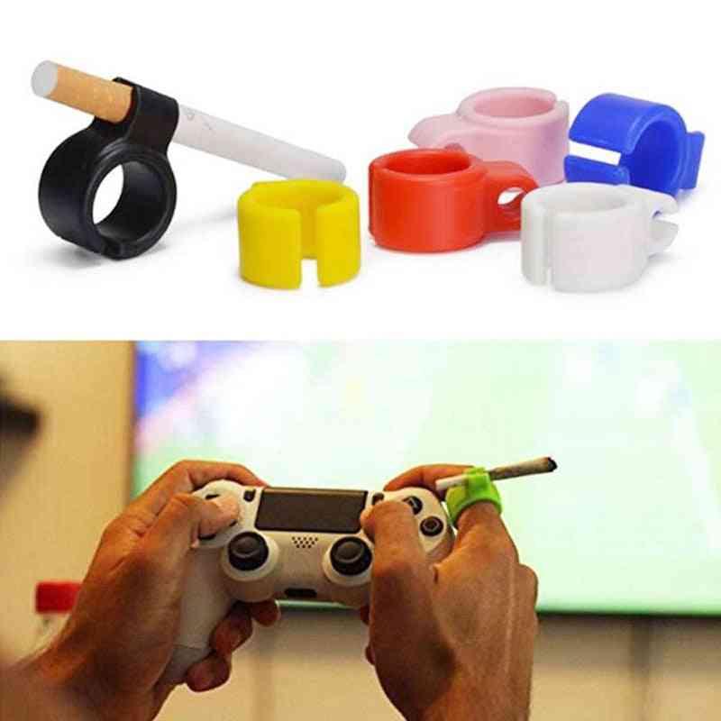 Silicone Smoker Finger Ring, Hand Rack Cigarette Holder
