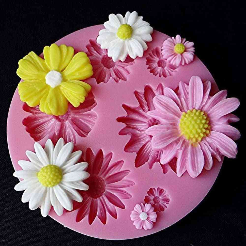 3d Sunflower Petals Embossed Silicone Mold, Relief Fondant Cake Decorating Tools