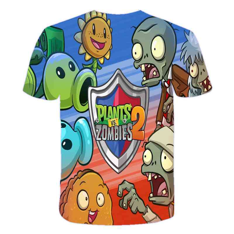 3d Printed- Plants Vs Zombies, Casual Clothes T-shirt For