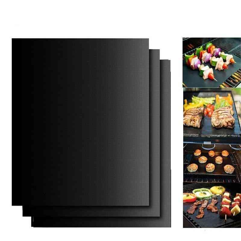 Portable- Bbq Grill, Mat Pad Sheet For Outdoor Non-stick, Barbecue Oven Tool