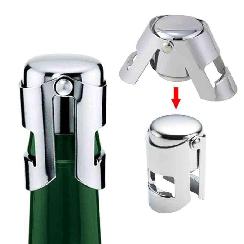 Stainless Steel- Champagne Cork, Portable Sealing, Machine Bar, Stopper Cap