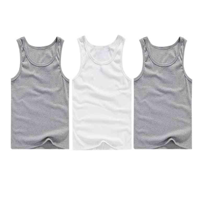 Men's Top, Sleeveless Muscle Vest Undershirts O-neck Gym Clothing