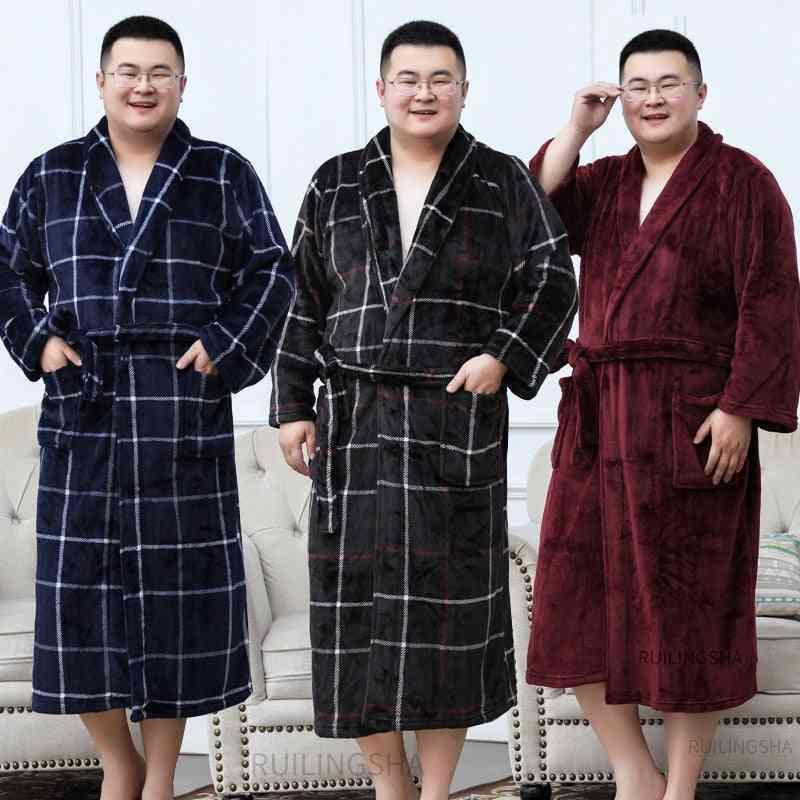 Winter Warm- Flannel Plaid Bathrobe, Women