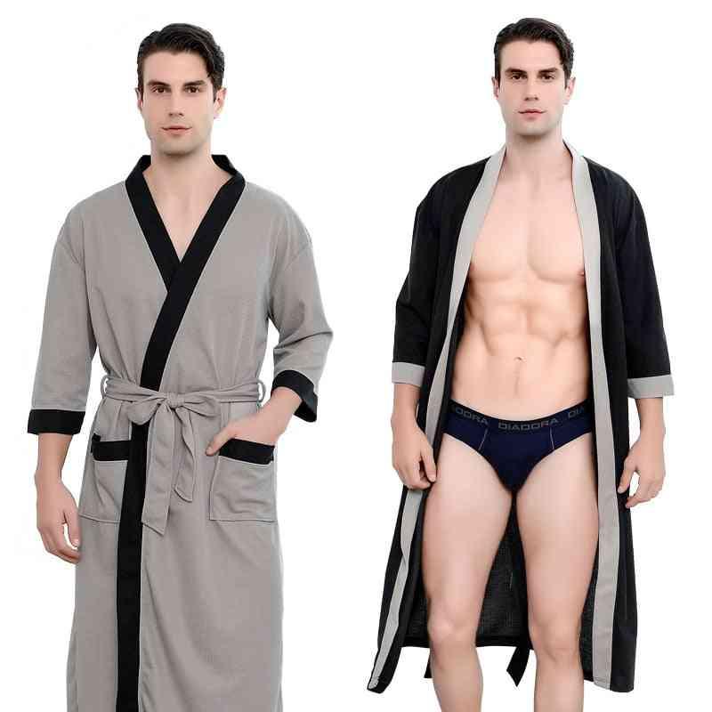 Kimono Shawl Collar Robe Night Gown