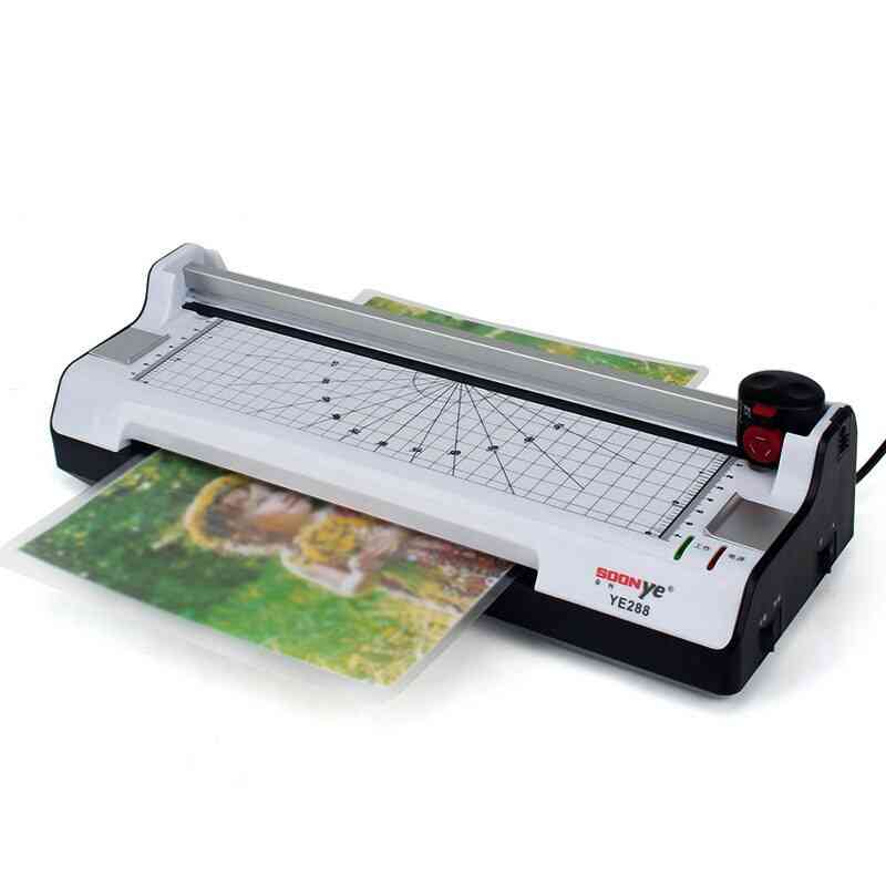 A4 Smart Photo Hot & Cold Laminator, Trimmer Sealed, Plastic Machine