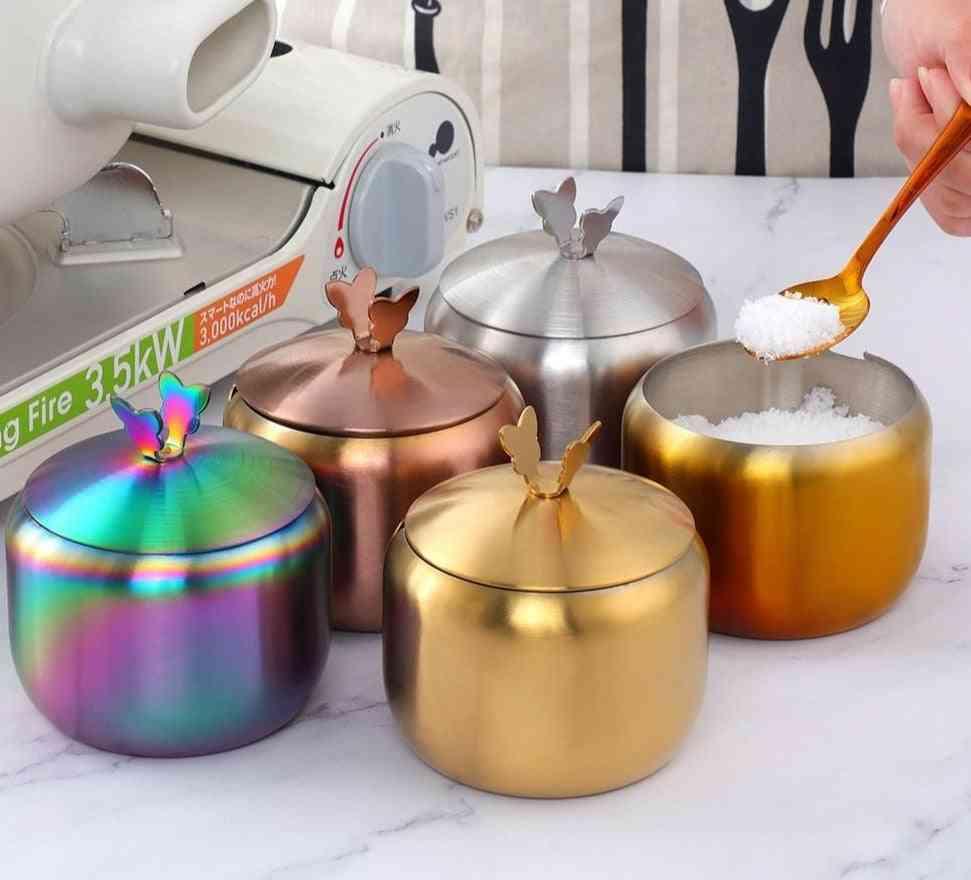Kitchen Stainless Steel Seasoning Condiment Pot