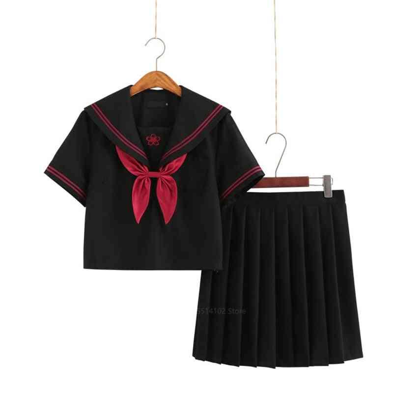 Japanese Korea Style, Uniform Hell Pleated Skirt, Academy Anime Kawaii Cosplay Dress