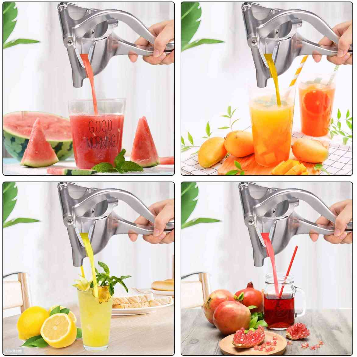 Manual Juice Squeezer, Hand Pressure Juicer Fruit Tool
