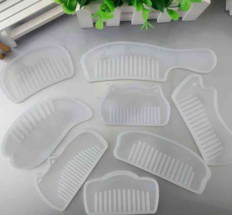 Comb Series- Silicone Mold, Epoxy Resin, Jewelry Making Cosmetic Tools