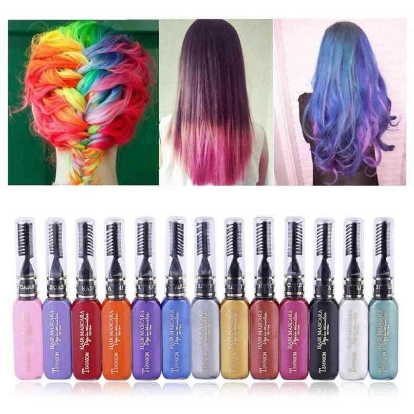 Non-toxic Temporary, Hair Color Comb, Mascara Cosplay, Salon Tools Kit