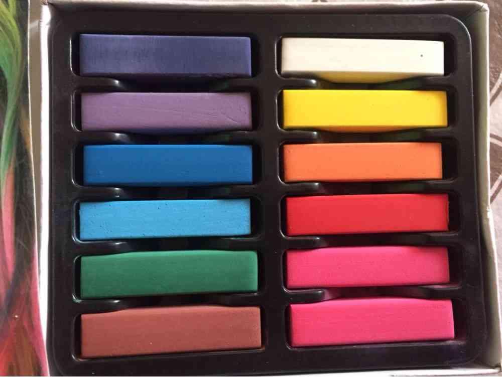 Women Non-toxic Temporary Salon Kit Chalk Pastel Use For Hair