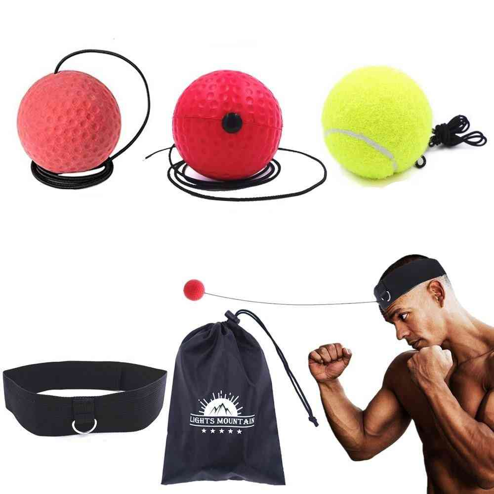 Boxing Balls With Adjustable Headband For Punching Speed Set