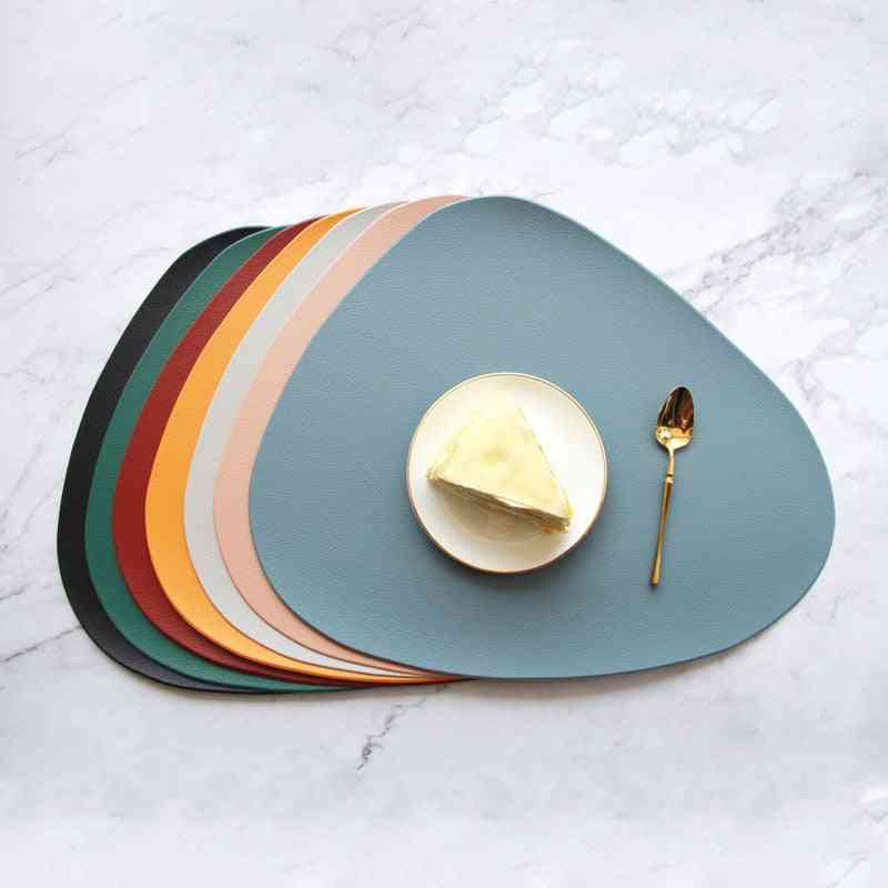 Tableware Pad, Heat Insulation Pu Leather Placemats Bowl Coaster Non-slip