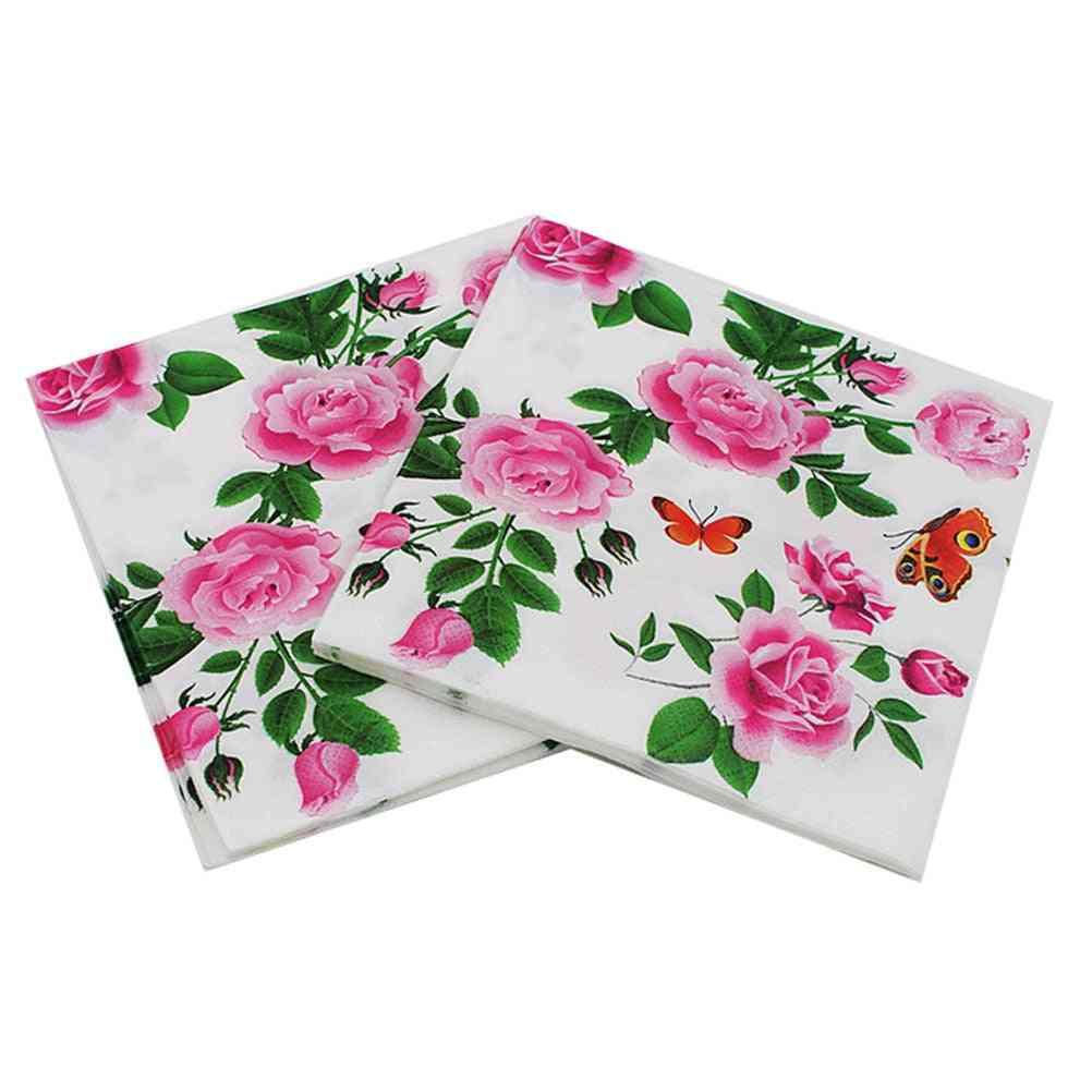 Floral Paper Napkins Flower Festive & Party Tissue