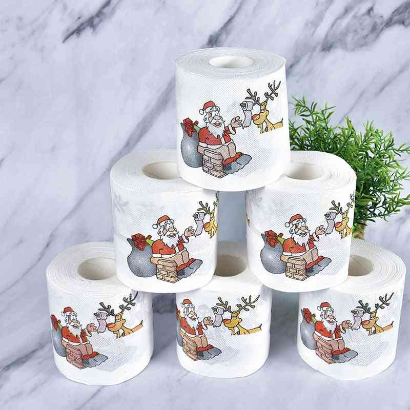 Cute Christmas Pattern Toilet Tissue Pape