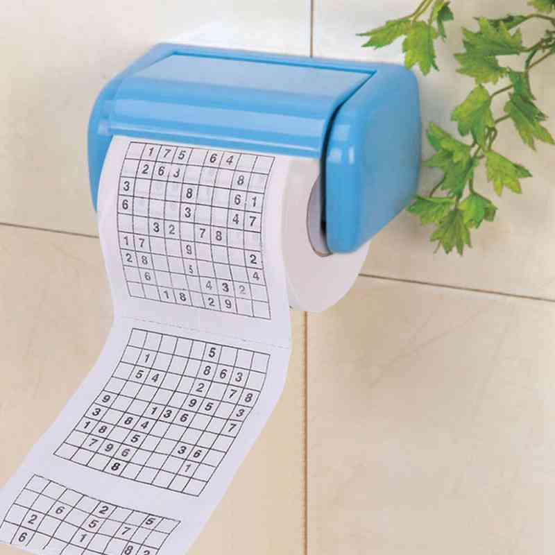 2 Ply, Number Sudoku Printed, Toilet Tissue Paper