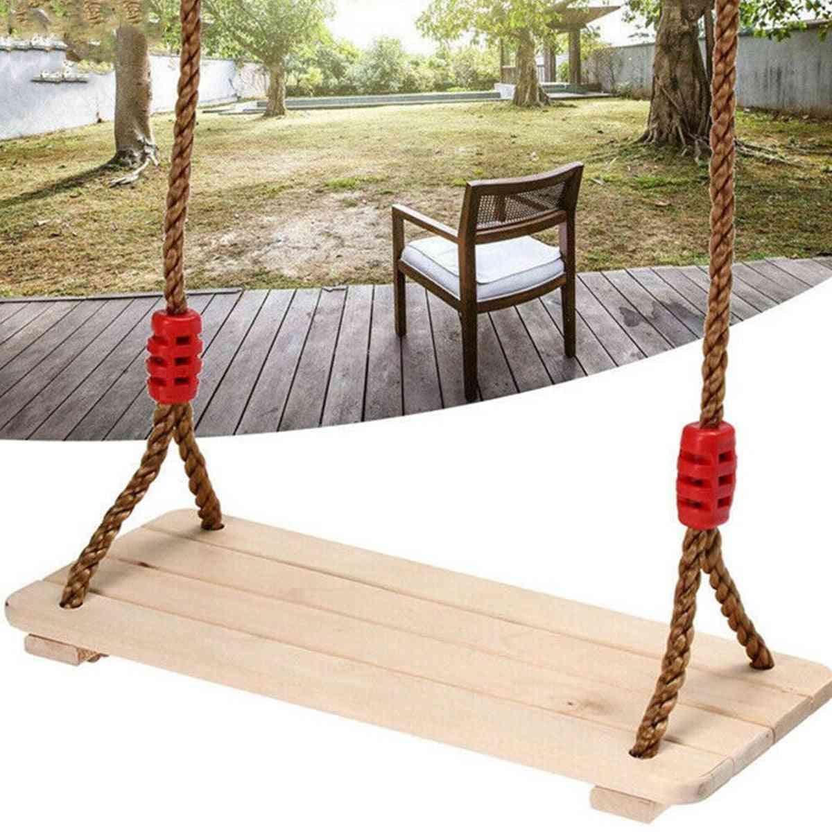 Rocking Wooden Chair Swing- Indoor & Outdoor Garden For
