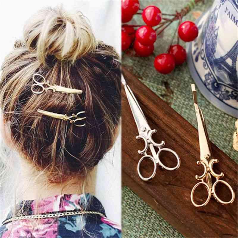 Women, Creative Scissors Shape Hair Clip
