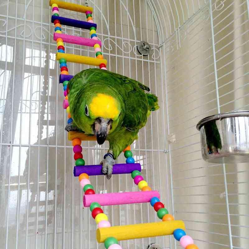 Bird Supplies Hanging Colorful Balls Climbing Ladder