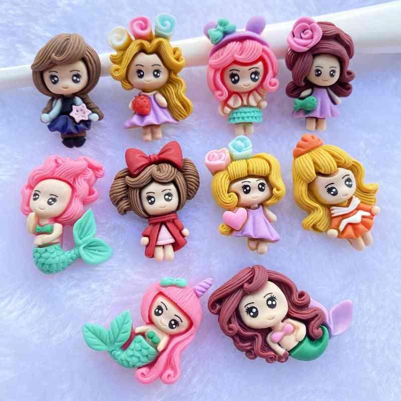 Lovely Mixed Mermaid/little Girl Princess Flatback Cabochon Scrapbook Accessories