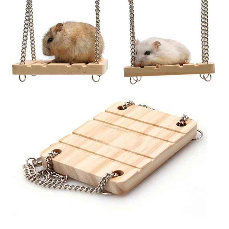 Wooden Swing Harness Hanging Bed Parrot Rest Mat