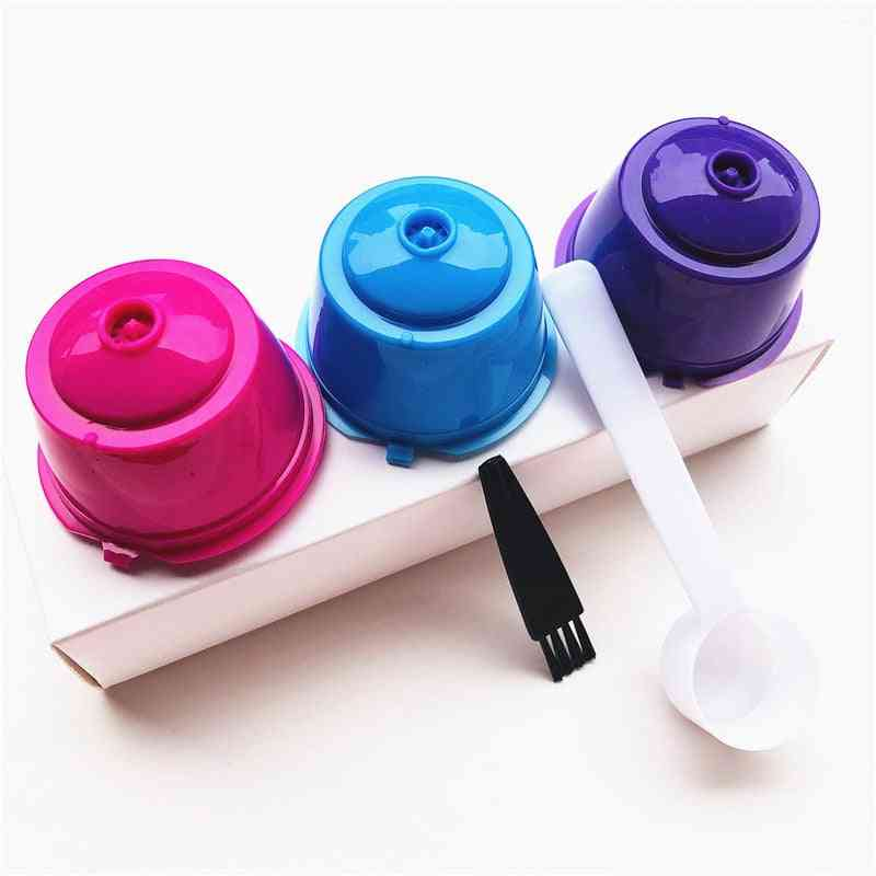 Reusable Coffee Capsule Filter- Cup/ Spoon/ Brush, Baskets Pod