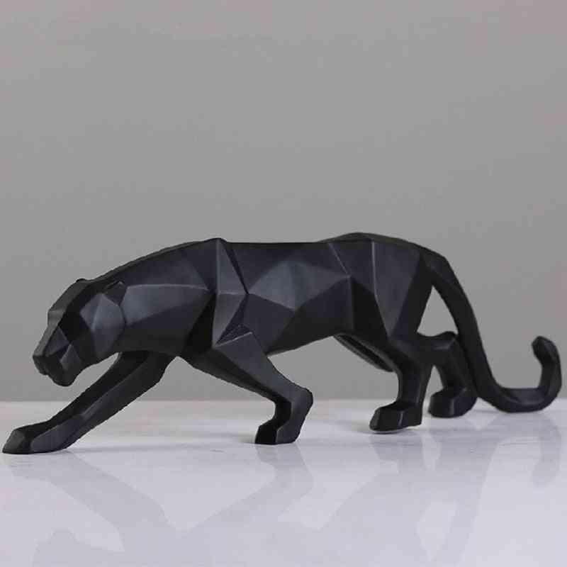 Leopard Statue Figurine Modern Abstract