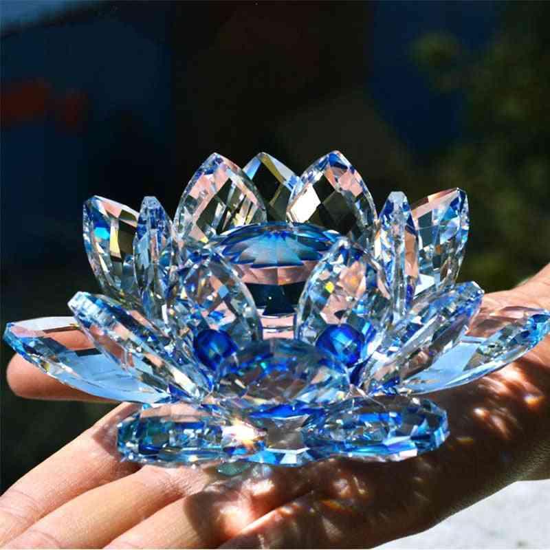 Quartz Crystal Lotus Flower Crafts Glass,  Home Wedding Party Decor