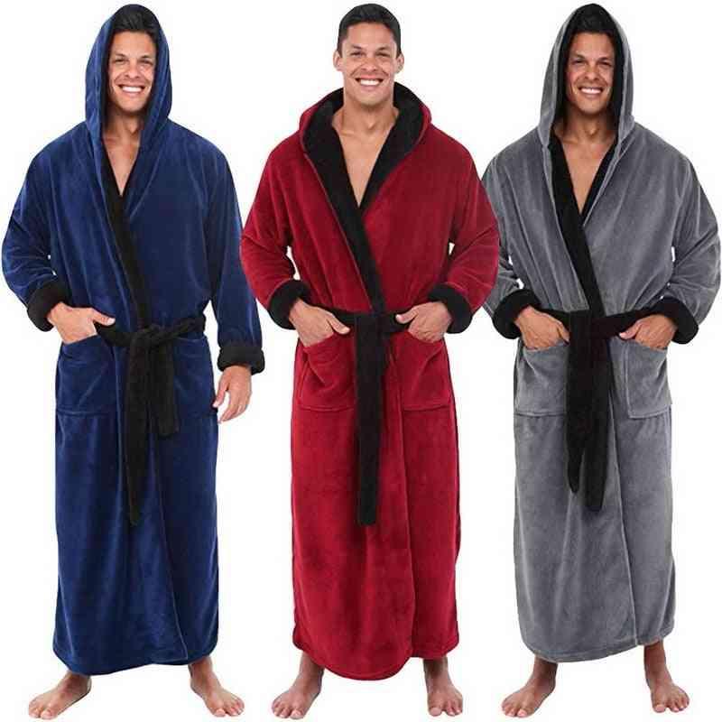 Autumn Long Kimono Robe, Warm Sleepwear / Bath Pajama