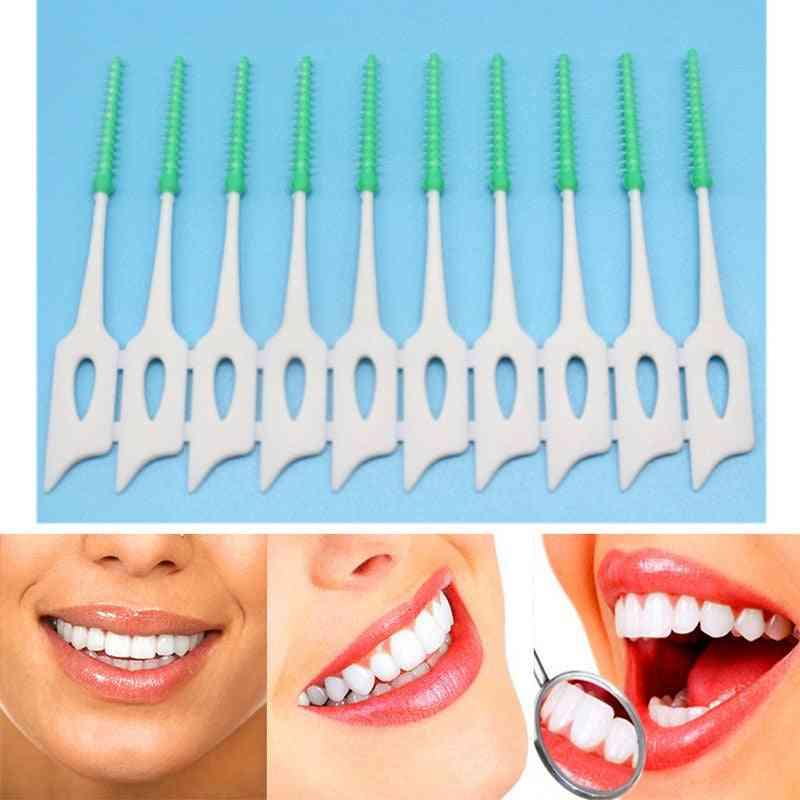 Dental Floss Interdental Brush Teeth Stick