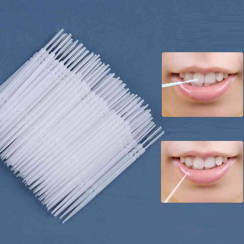 Pick Interdental Brush, Double-head, Teeth Cleaning Toothpick, Oral Care Tool