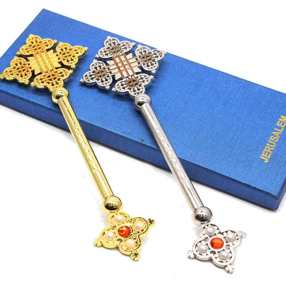 Metal Cross Ornaments For Decoration