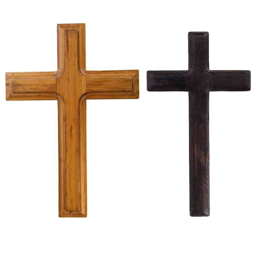 Christ Catholic, Crucifix Handmade, Solid Wooden Cross Jesus For Office, Bedroom