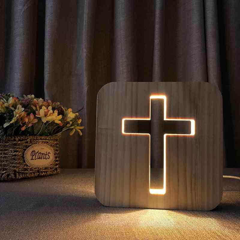 3d- Usb Glow, Wood Jesu, Christiana Cross