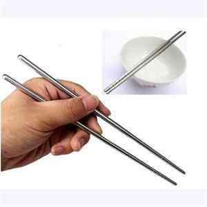 Stainless Steel- Laser Engraving Patterns, Food Sticks Chopsticks
