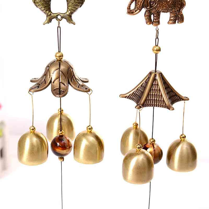 Chimes Statue Crafts, Outdoor Oriental Lucky Bell