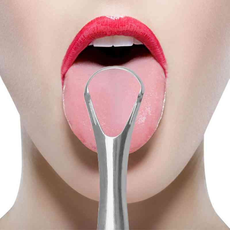 Stainless Steel Scraper Reusable Tongue Scraper For Oral Care
