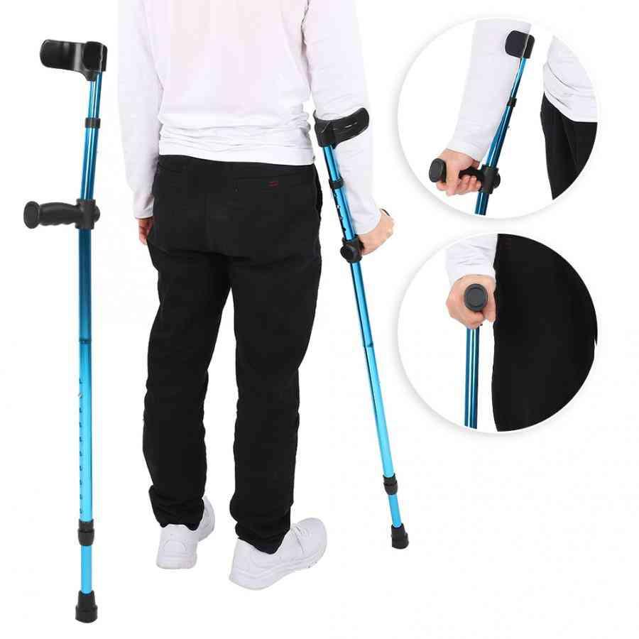 Portable- Folding Adjustable, Telescopic Underarm, Cane Crutch, Walking Stick