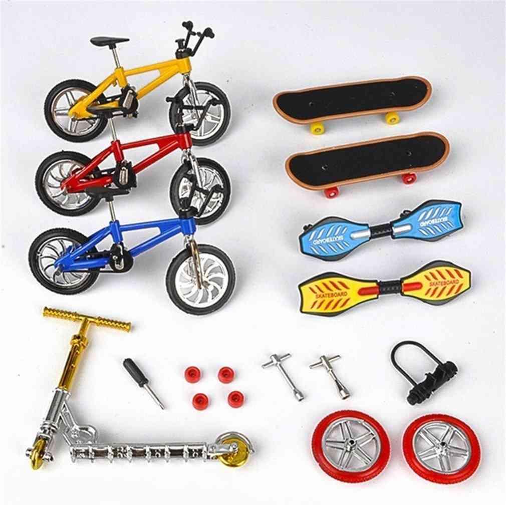 Bicycle Finger Skateboard Toy - Skateboard,vitality Board & Scooter Set