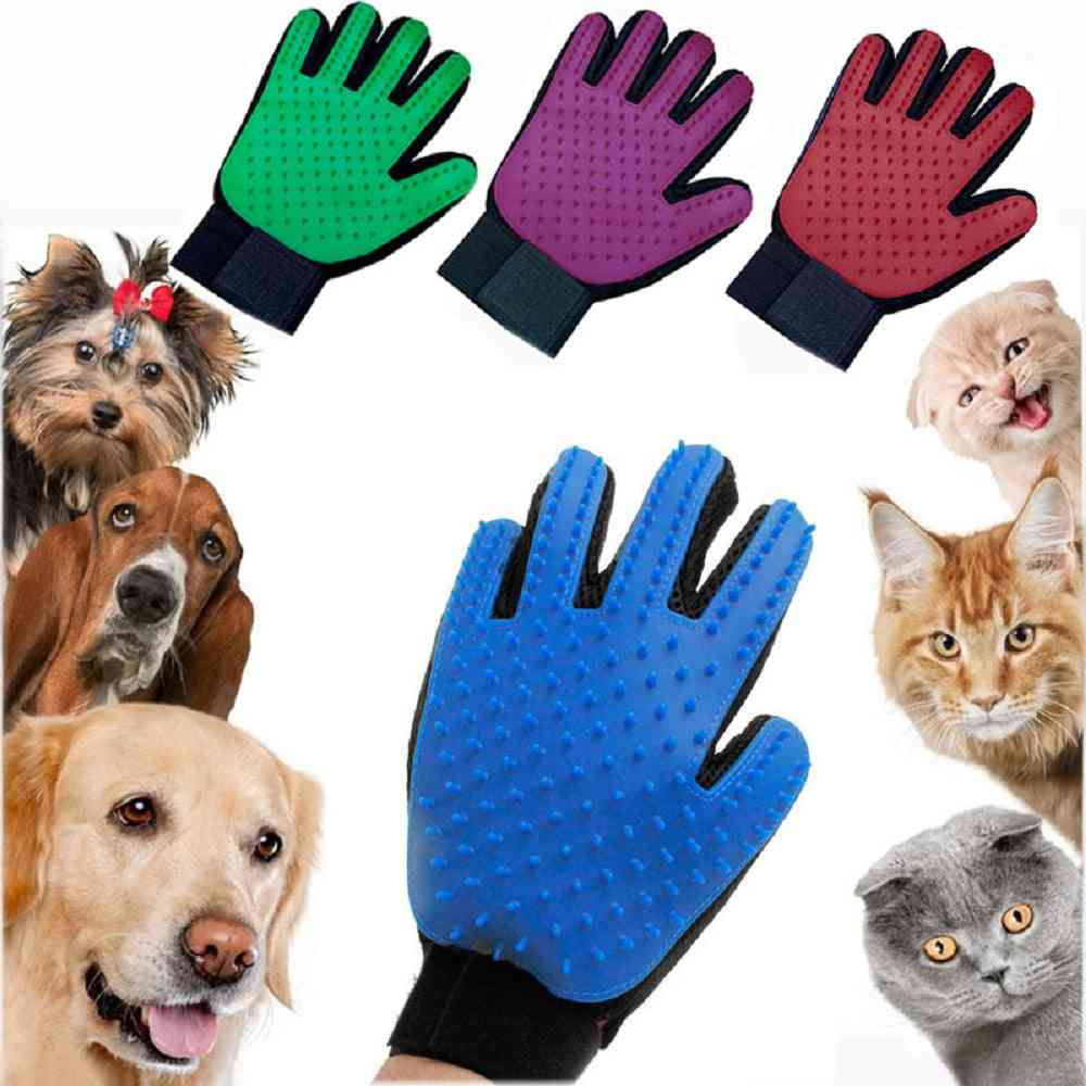 Grooming Glove- Hair Remove Brush, Cleaning Combs Massage For Cat, Dog