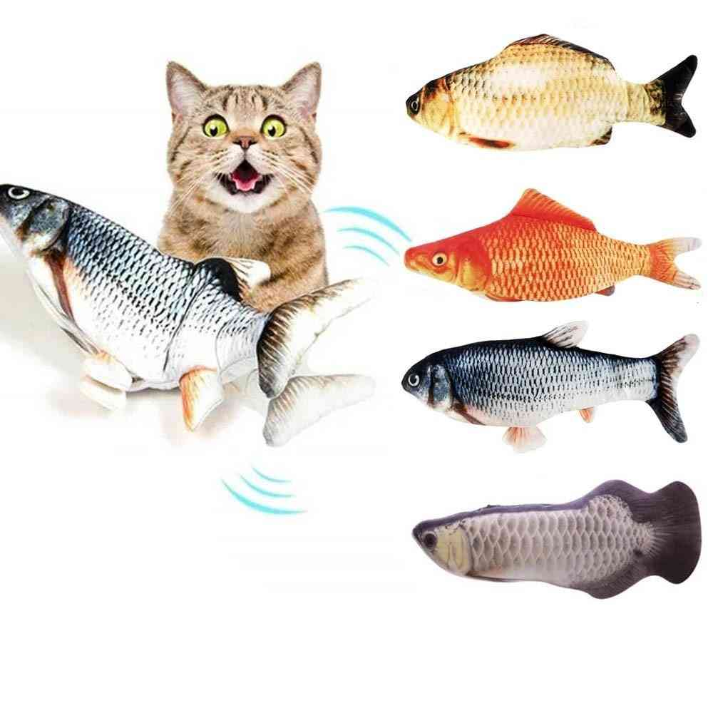 3d-electric Fish, Usb Charging, Interactive For Cats