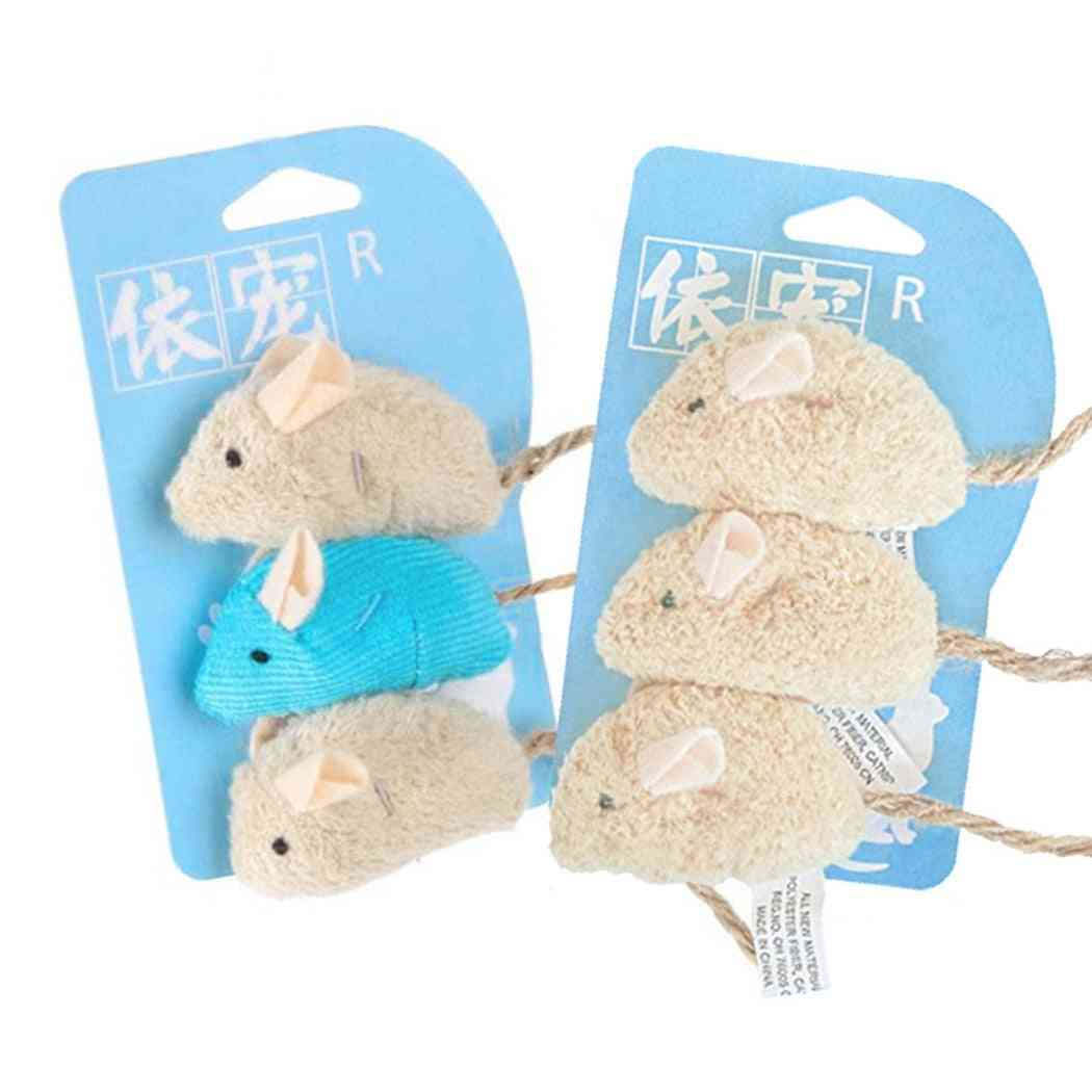 Plush Scratch, Bite Resistance, Interactive Mouse Palying Toy For Cat Kitten