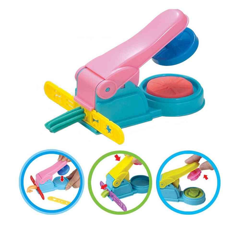 3d- Creative Plasticine Playdough Set- Clay Extruder, Color Play, Dough Model